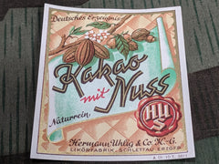 Vintage German WWII-era Kakao mit Nuss Liquor Label