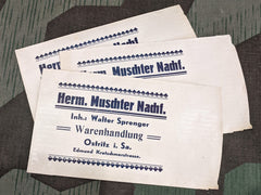 Vintage German WWII Herm. Muschter Nachf. Paper Store Bags (Set of 3)