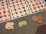Vintage German WWII Pressed Paper Buttons