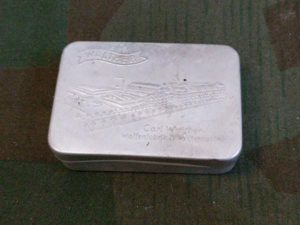 Vintage German Walther PP or PPK Pistol Cleaning Kit Tin