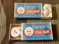 Vintage German Wäscheknopf Prym Buttons (Box of 12)