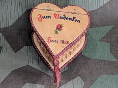 Vintage German Zum Andenken Harz 1936 Jewelry Trinket Box