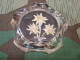 Vintage Glass Edelweiss Luzern Swiss Ashtray