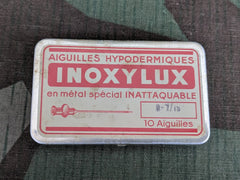 Vintage Inoxylux French Hypodermic Needle Tin