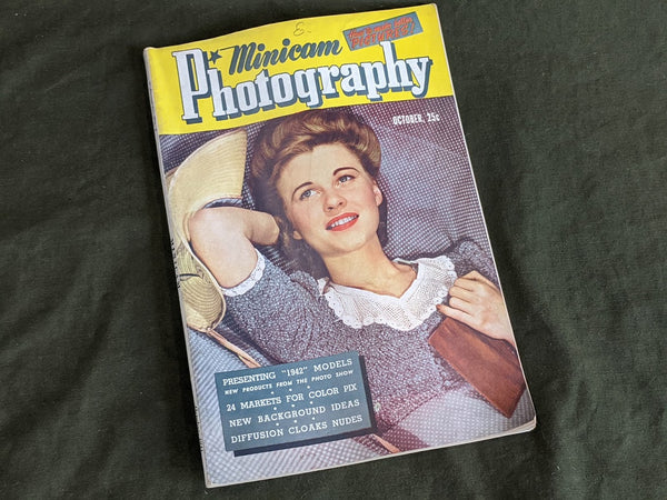 Vintage Minicam Photography Magazine Oct 1941 WWII