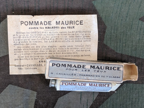 Vintage Pommade Maurice French Medicine Tube in Box