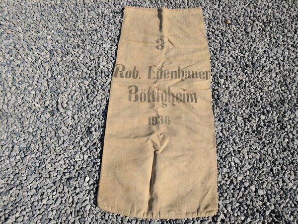 "Vintage Pre-WWII German ""Stolen"" 1936 Food Sack Rations Bag"