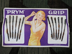 Vintage Prym Grip Hairpins on Card