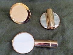 Vintage Sweetheart Mirror and Lipstick Holders from Military Bases
