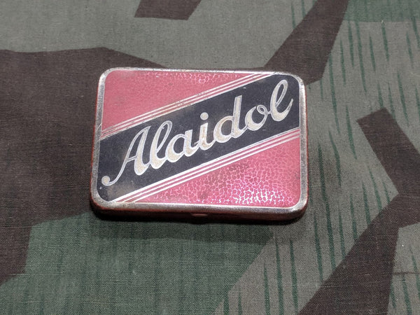 Vintage WWII-era German Alaidol Pill Tin for Pain Medicine