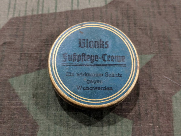 Vintage WWII-era German Blanks Fusspflege-Creme Tin - Still Full