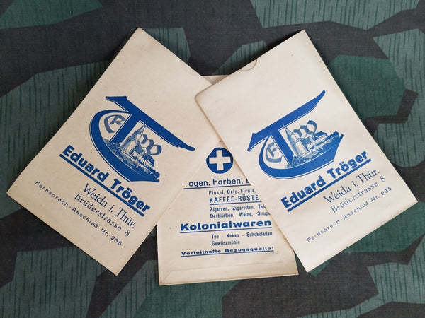 Vintage WWII-era German Eduard Tröger General Store Bags (Set of 3)