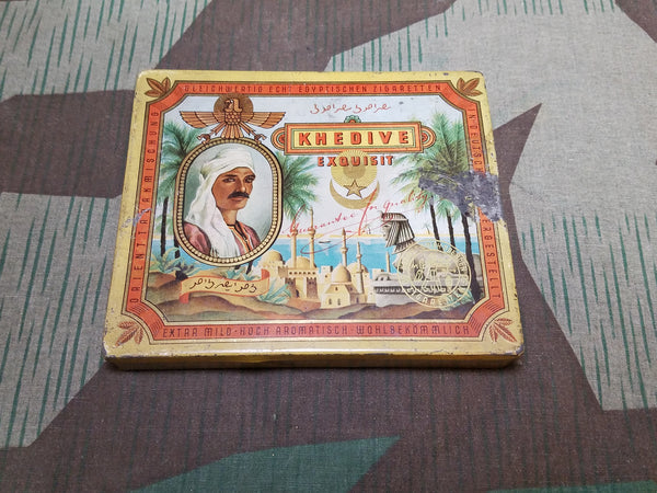 Vintage WWII-era German Khedive Exquisit Cigarette Tin