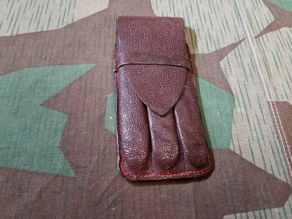 Vintage WWII-era German Leather Cigar Case