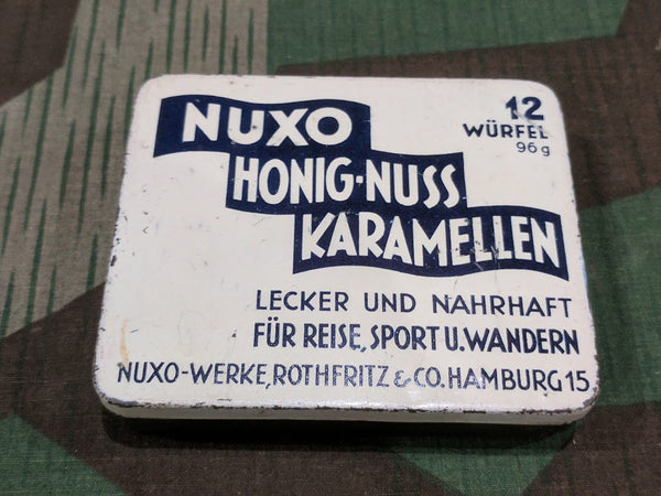 Vintage WWII-era German Nuxo Honey-Nut Caramel Tin