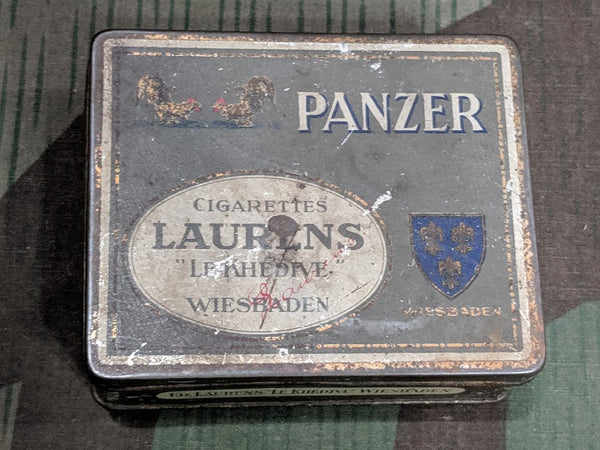Vintage WWII-era German Panzer Cigarette Tin