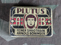 Vintage WWII-era German Plutus Shag Tobacco Tin