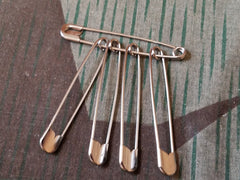 Vintage WWII-era German Safety Pins (set of 5)