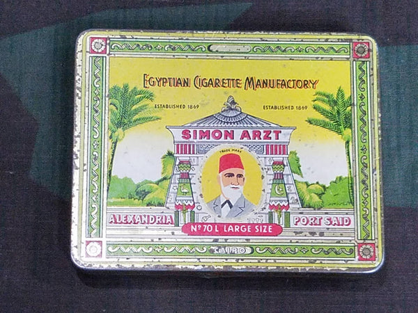 Vintage WWII-era German Simon Arzt Cigarette Tin