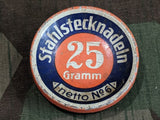 Vintage Stahlstecknadeln Sewing Pin / Needle Tin 1930s 1940s German