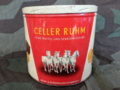 Vintage WWII-era German Trüller Celler Ruhm Cookie Tin