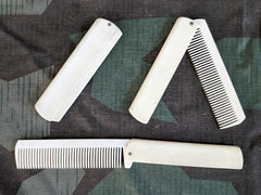 Vintage WWII-era German White Celluloid Folding Combs