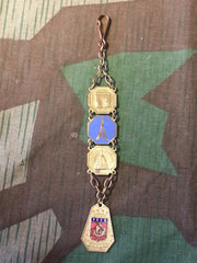 Vintage WWII 1940s Paris France Watch Fob Keychain