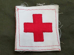 Vintage WWII American Red Cross Patch for Women's Uniform Pocket ARC