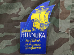 Vintage German 1940s Landfried Burnuka Tobacco Advertising Sign
