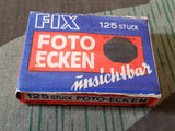 Vintage WWII German Fix Photo Corners in Box DRGM