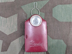 Vintage WWII German Hassia Red Flashlight