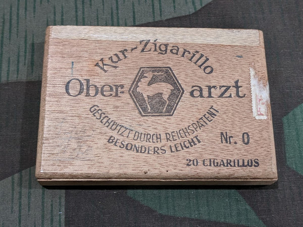 Vintage WWII German Ober-arzt Cigarillo Box Reichspatent