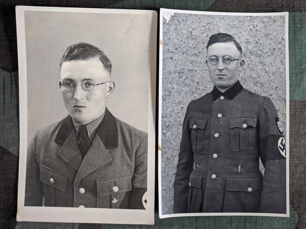 Vintage WWII German Set of 2 Postcards of RAD Man
