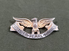 Vintage WWII Remember Pearl Harbor Eagle Pin