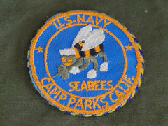 Vintage WWII Seabees Sweetheart Patch Mirror
