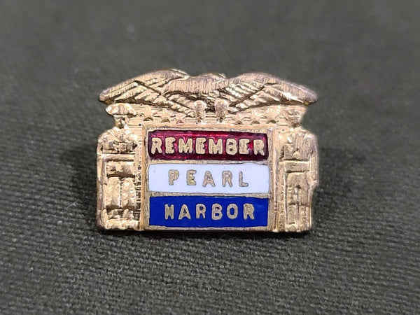 Vintage WWII Small Remember Pearl Harbor Pin