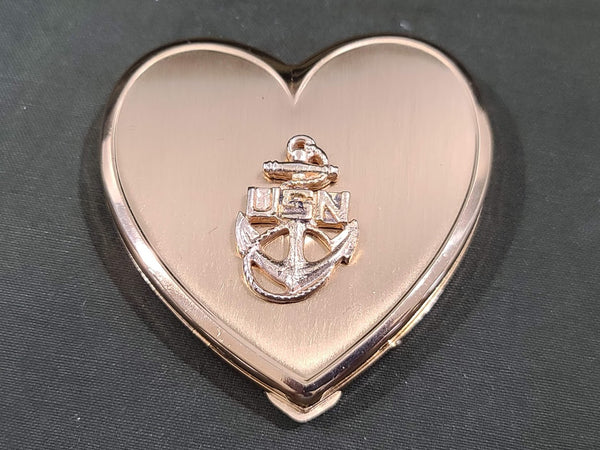 US Navy Heart Shaped Compact