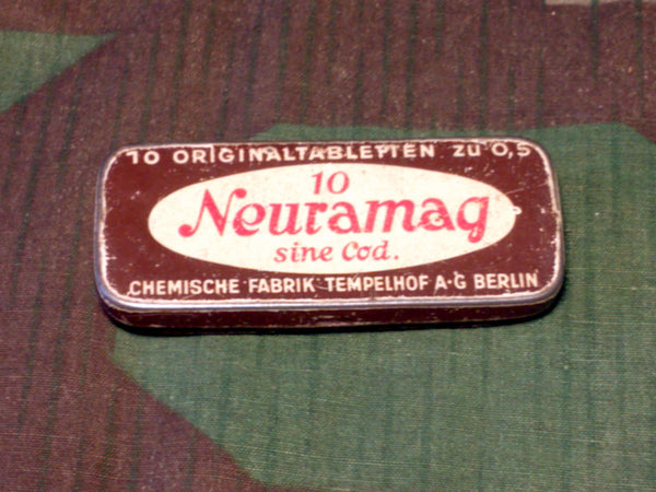 Vintage WWII era Neuramag German Headache Medicine Tin