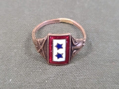 Vintage WWI Blue Star Son In Service Sweetheart Ring 1917