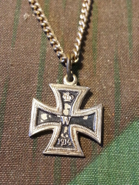 Vintage WWI German 1914 Iron Cross Necklace