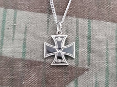 Small Enamel 1914 Iron Cross Necklace