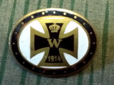 Vintage WWI German Sweetheart Enamel Brooch Pin w/ Iron Cross
