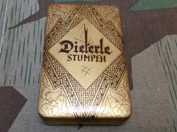 Vintage pre-WWII German Dieterle Stumpen Cigar Tin Art Deco