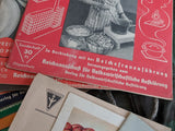 Reichsfrauenführung Recipe and Sewing Books (Set of 18)