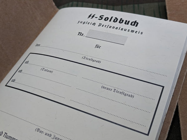 Reproduction SS Soldbuch NEW!