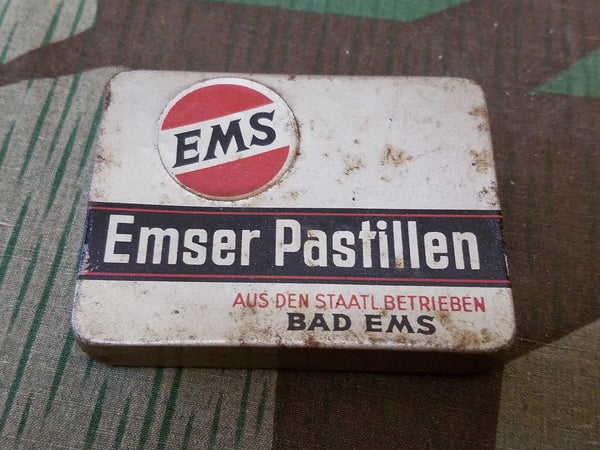 WWI-era German Emser Pastillen Pill Container (Sore Throat & Cough)