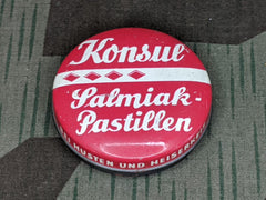 WWII-era German Salmiak-Pastillen Konsul Salty Liquorice Tin