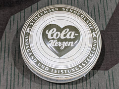 WWII-era German Cola Herzen Chocolate Tin