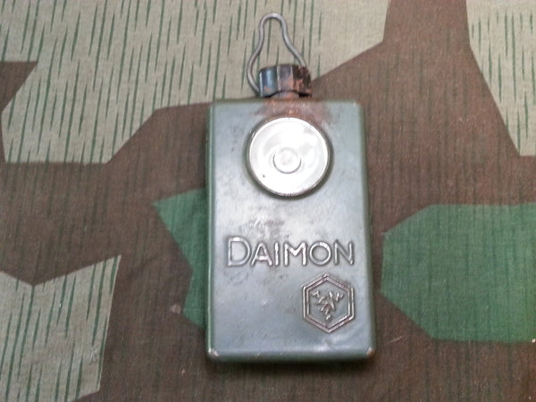 WWII-era German Daimon Blue / Green Flashlight