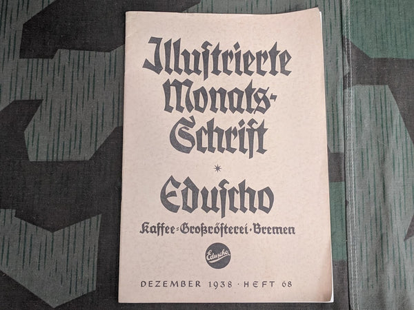 WWII-era German Eduscho Kaffee Christmas 1938 Magazine